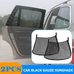 car side protector Australia - 2Pcs Auto Car UV Protector Sunshade Curtain Car Sun Visor Rear Side Window Sun Shade Mesh Fabric Visor Shade Cover Shield