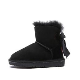 Sale Snow Boots Australia - quality girls winter snow boots shoes fashion cute bow australia fur one low cut boots for kids sale