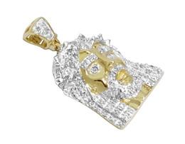 "$enCountryForm.capitalKeyWord UK - Genuine Diamond Unisex 10k Yellow Gold Mini Micro Jesus Pendant Charm .25Ct 1.0"""
