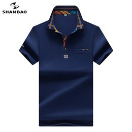 Polo Red White Blue Australia - 2019 Summer New Style Lapel Large Size High Quality Cotton Business Casual Men's Short Sleeve Polo Shirt Blue White Red Yellow C19041501