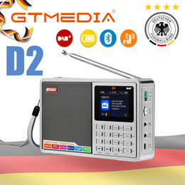 dab portable radio Australia - GTMEDIA D2 Portable Radio FM DAB stereo  RDS Multi Band Radio Speaker with LCD Display Alarm Clock Support Micro SD TF Card