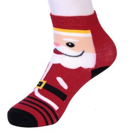 warmest thermal socks UK - Souarts Christmas 2018 Women's Socks Lady Christmas Santa Snowman Gift Sock Cute Ladies Sock Female Thermal Warm Animal Socks