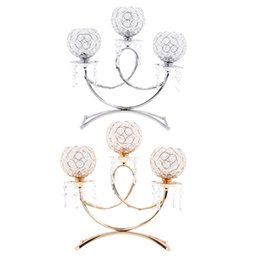 Bowl Candle Holder Australia - 3 Bowl European Style Candle Holder Candelabra Table Centerpiece Wedding Party Home Decor Silver gold Y19061901