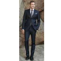 $enCountryForm.capitalKeyWord Australia - Custom Made Classic Charcoal Men Suit Blazers Gentleman Style Tailor Made Slim Fit Wedding Suits Men 2 Pcs(Jacket+Pants) L650