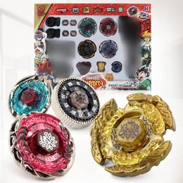 beyblade master set UK - 4D Launcher Grip Beyblade Set Metal Master Fusion Top Rapidity Fight set
