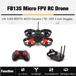 helicopter boxed Australia - Micro FPV RC Racing Quadcopter Drones With 5.8G 800TVL 40CH Camera With 3Inch FB-009 FPV Goggles VR Headset RC Helicopter