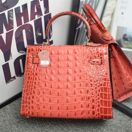 $enCountryForm.capitalKeyWord NZ - Designer- New Euramerican fashion design hot sale alligator pattern designer handbag cow genuine leather handbag women bag luxury handbag