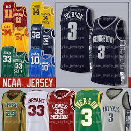 NEW MEN Iverson NCAA 21 Joel 25 Ben Embiid Simmons Jeune 11 Trae 14 Tyler 0 Jayson Herro Tatum College Basketball Maillots en Solde