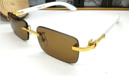 frames for rimless glasses 2019 - 2018 best-selling wooden sunglasses for men women fashion brand sunglasses half frame square a variety of color lenses b