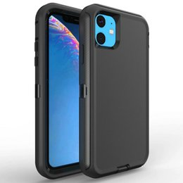 $enCountryForm.capitalKeyWord Australia - Robot Armor Case For iPhone 11 Pro 11 Pro Max Heavy Duty Cover 3 In 1 Belt Clip Holster Hard Plastic With TPE Shell