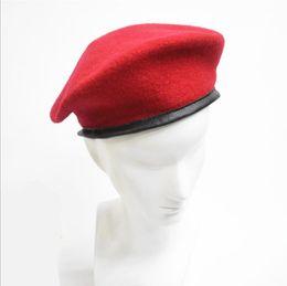 Discount soldier hats - 2017 Fasion Army Soldier Hat Men Women Wool Beret Uniform Cap Classic Artist Berets Cap Hat