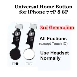 Wholesale Universal Home Button Flex for iPhone Plus Return Home Function Solution rd Generation Black White Gold Rose Gold Color