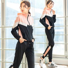 harem yoga pants 2020 - Fitness Suit WOMEN'S Suit Badminton Clothing Long Sleeve Hoodie Loose Harem Pants Four-piece Set Fat Mm Yoga Sports