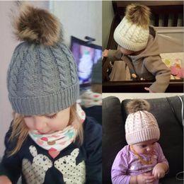 $enCountryForm.capitalKeyWord Australia - Kids & Women's Fashion Knitted Cap Family Autumn Winter Warm Hat Skullies Heavy Hair Ball Twist Beanies Solid Color Hip-Hop Wool Hats 9color