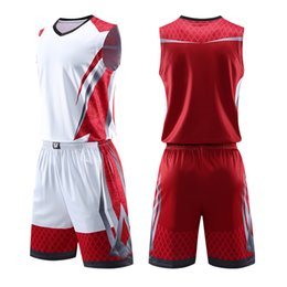 0fc8c62e65d Men Kids Basketball Jerseys Suit Boys College Mens Basketball Uniforms Sport  Kit Shirts Shorts Set Cloth Breathable Custom Print Q190521