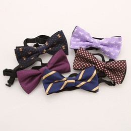 Unisex Bowties NZ - 2019 new baby accessories New Style Plaid Children Bowtie Polester Bowties Baby Kid Kids Classical Pet Striped Butterfly Bow tie Elk Bike