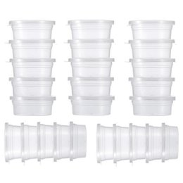 $enCountryForm.capitalKeyWord NZ - Slime Storage Containers Foam Ball Storage Cups Containers With Lids Small Sundries Storage 50pcs set