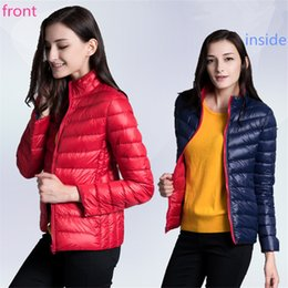 Wholesale Front and Inside Can Wear Women Down Jackets Female Slim Fashion Coat Winter Warm and Comfortable Good Choice Ladies Coats