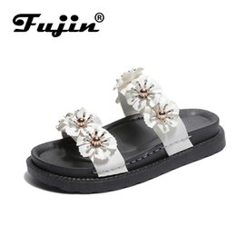 Summer Ladies Sandals Australia - Fujin Brand 2019 New Ladies Sandals Summer Fashion Shoes Female Slippers Beach Holiday Casual Flat Slippers
