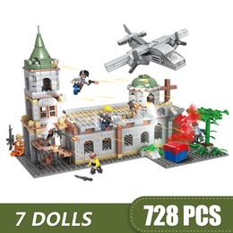 Diy Boys Toys UK - 728PCS Small Building Blocks Compatible with Legoe Game PUBG church Toys for children girls boys Gift DIY