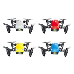 Discount remote toy airplane - S9 Micro Foldable RC Quadcopter RTF 2.4GHz 4CH Gyro Headless Mode One Key Return Kids Remote Control Airplane Toys Kids