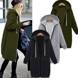 $enCountryForm.capitalKeyWord Australia - Women Long Coat 2018 Autumn Winter Casual Hooded Jacket Elegant Female Sweater for Ladies Cardigans Feminino Plus Size 4XL 5XL
