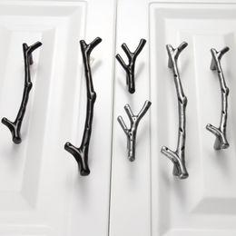 Cabinet Handles Pulls Australia - urniture Hardware Cabinet Pulls 1Pc 96 128mm Furniture Tree Branch Kitchen Closet Drawer Handles Pulls Cupboard Dresser Cabinet Knobs an...