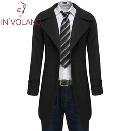 $enCountryForm.capitalKeyWord Australia - Fashion Men Slim Trench Long Jacket Double Breasted Overcoat Warm Woolen Coat Outdoor Solid Sleeve Front Pocket