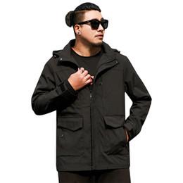 Discount mens high collar zipper jacket - big New 8xl 7xl 6xl 5xl Plus Size Men Spring And Autumn Jackets And Coats Jackets Mens Clothes High Quality Windbreaker