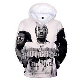 boys hoodies sale UK - Hot sale Migos Rapper Boys girls Hoodies Sweatshirt Long sleeve autumn warm pullovers hip hop streetwear Harajuku cool clothes