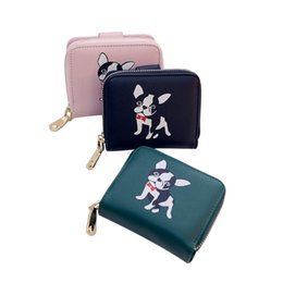 Dog Zipper Australia - good quality 2019 Women Wallets Cute Small Purse Carton Dog Pu Leather Short Wallet With Zipper Around Ladies Clutch Card Holder