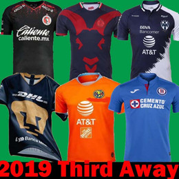 d4a9ee1ce4d DHL Shipping 2018 2019 Mexico Liga MX CHIVAS Guadalajara Long Club America  UNAM TIGRES Monterrey Soccer Jerseys 18 19 cruz azul third Shirt