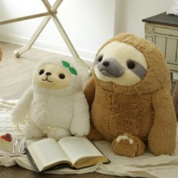 SlothS toyS online shopping - 70cm Simulation Sloth Baby Doll Lifelike Sloth Plush Toys Stuffed Dolls Kids Toys Lovely Doll Girlfriend Best Gifts Brinquedos SH190913