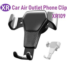 Company Cars Australia - Car Air Outlet Phone Clip ABS+Leather Car Phone Holder Mobile Phone Bracket Universal Creative Company Gift For iPhone i9100 i9220 Millet