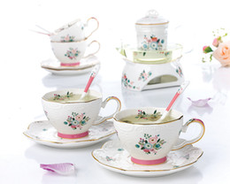 $enCountryForm.capitalKeyWord Australia - 2019 new Tea Set European Afternoon Tea Heat-resisting Glass Teapot Household Cooking Bubbles Fruit Tea Relief Ceramic Teacup
