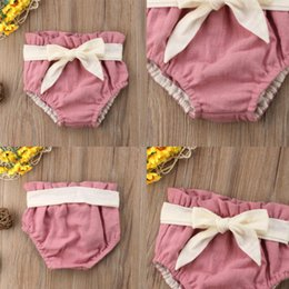 white baby girl bloomers UK - US Toddler Baby Girl Kids Harem Pants Shorts Bowknot Bottoms PP Bloomers Panties Pink PP Panties