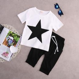 $enCountryForm.capitalKeyWord NZ - US Stock Toddler Kids Boy Star T-shirt Tops Harem Pants Outfits Set Clothes