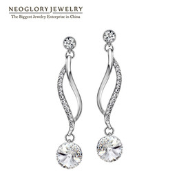 neoglory jewelry Australia - Neoglory Chandelier Austrian Crystal Light Yellow Gold Color Long Dangle Earrings For Women Girl Brand Gifts Jewelry 2020 New P1