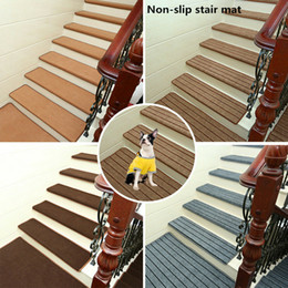 Carpet stair mats online shopping - 13Pcs Set Rectangle Stairs Mat Non slip Adhesive Carpet Stair Treads Mats Pads Staircase Step Rug Stair Protection Cover
