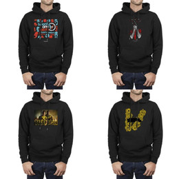 twenty one pilots hoodies NZ - Men Design Printing Funny Twenty One Pilots Quiet Is Violent black Fleece Hoodies Vintage Crazy thin Hoodie Blurryface Trench Muzic Logo