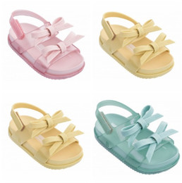 Babies Shoes For Girls NZ - 2019 Newest Summer Mini Shoes Toddler Girls Bowtie Sandals For Children Jelly Shoes Girl Slip-resistant Boy Soft Baby Sandals Fashion Sandal