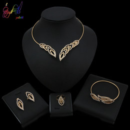 Gold Leaf Designs Australia - Yulaili 2019 Newly Designed Gold Silver Hollow Leaf Shape Necklace Jewelry Set Luxury Elegant For Women Party Occasion
