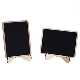 Wholesale 10Pcs cm Blackboard Stylish DIY Square Wooden Mini Chalkboard Price Display Stand For Christmas Party Wedding Decor