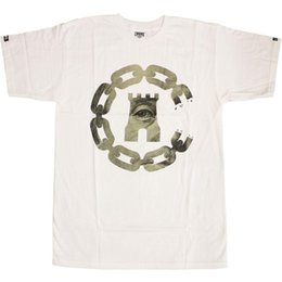 Ingrosso T-Shirt di Crooks Castles Currency Chain C bianca
