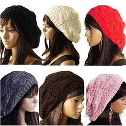 $enCountryForm.capitalKeyWord NZ - NDUCJSI Casual Caps Fashion Winter Beanies Women Crochet Hats Braided Multi Adult Cotton Knitted Skullies High Elasticity Hats