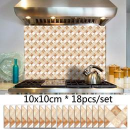 Tiles Design For Kitchen Wall Australia - Marble Mosaic Geometric Pattern Tile Sticker Waterproof DIY Decor Wall Sticker Kitchen Bathroom Wall Decals Self adhesive Stickers