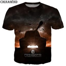 $enCountryForm.capitalKeyWord NZ - Fashion cool t shirt men women hot game World Of Tanks 3D printed t-shirts Short sleeve Harajuku style tshirt streetwear tops