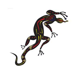 $enCountryForm.capitalKeyWord UK - Aboriginal Lizard Gecko Art Artist Vinyl Cut Car Sticker Australian Accessories Decorative Decal