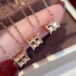 wholesale stainless steel necklace sets UK - 2019 women luxury designer jewelry ceramic pendant stainless steel Lady's rose gold necklace gold chains love necklaces wedding set