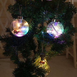 $enCountryForm.capitalKeyWord Australia - Christmas Tree Party Decoration Copper Wire Spherical Bulb Suspension Rope Hanging Lamp LED Plastic Ball Outdoor Xtmas Home